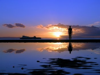 Anthony Gormley's modern sculpture, 'Another Place'
